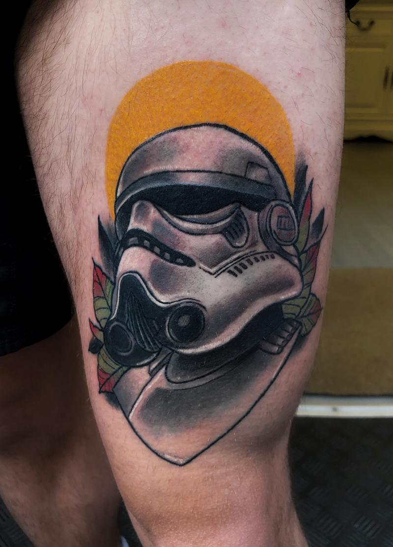 Tatuaje neotradicional star wars trooper
