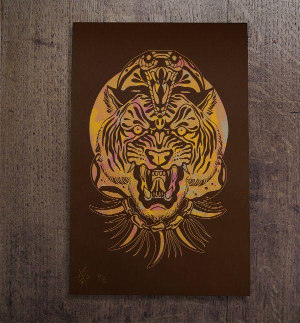 Lámina serigrafía tigre