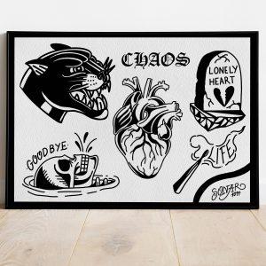 lámina blackwork chaos